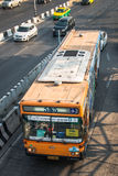 πορτοκαλί Μπανγκόκ λεωφορείο 555 στοκ εικόνα με δικαίωμα ελεύθερης χρήσης