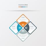Πορτοκαλί, μπλε, γκρίζο χρώμα παρουσίασης ορθογωνίων Στοκ εικόνα με δικαίωμα ελεύθερης χρήσης