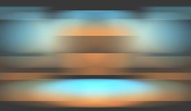 Πορτοκαλί μπλε υπόβαθρο πολυτέλειας Στοκ Εικόνες