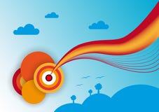 Πορτοκαλί ουράνιο τόξο Στοκ φωτογραφία με δικαίωμα ελεύθερης χρήσης