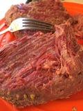 Πορτοκαλί πιάτο παστού βοδινού Στοκ φωτογραφία με δικαίωμα ελεύθερης χρήσης