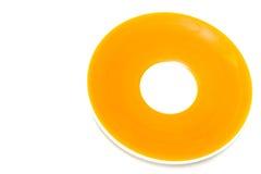 Πορτοκαλί πιάτο χρώματος Στοκ Εικόνες