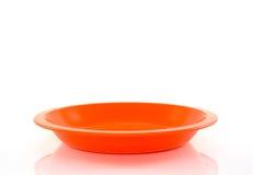 Πορτοκαλί πιάτο Στοκ εικόνα με δικαίωμα ελεύθερης χρήσης