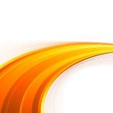Πορτοκαλί πρότυπο φακέλλων κυμάτων δύναμης swoosh Στοκ Φωτογραφία
