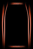 Πορτοκαλί πλαίσιο φιαγμένο από καπνό Στοκ φωτογραφίες με δικαίωμα ελεύθερης χρήσης