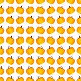 Πορτοκαλί σχέδιο κολοκύθας αποκριών διακοπών άνευ ραφής Στοκ Εικόνα