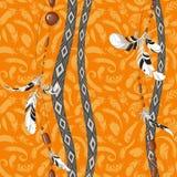Πορτοκαλί σχέδιο υποβάθρου φτερών Dreamcatcher Στοκ εικόνες με δικαίωμα ελεύθερης χρήσης