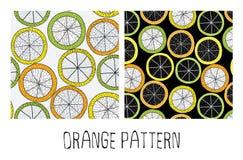 Πορτοκαλί σχέδιο doodle Στοκ Φωτογραφία