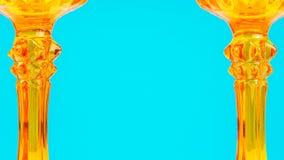 Πορτοκαλί υαλώδες διακοσμητικό υπόβαθρο Στοκ Εικόνες