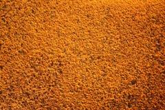 Πορτοκαλί υπόβαθρο, σκουριασμένος σίδηρος Στοκ Εικόνες