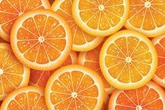 Πορτοκαλί υπόβαθρο φετών για το καλοκαίρι απεικόνιση αποθεμάτων