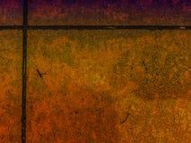 Πορτοκαλί υπόβαθρο Grunge κεραμιδιών Στοκ Εικόνες