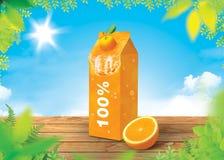 Πορτοκαλί φρέσκο υπόβαθρο Στοκ Φωτογραφία