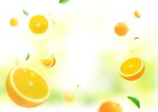 Πορτοκαλί φρέσκο υπόβαθρο Στοκ Φωτογραφίες
