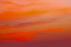 Πορτοκαλί φως βραδιού ηλιοβασιλέματος το χειμώνα Στοκ Φωτογραφία