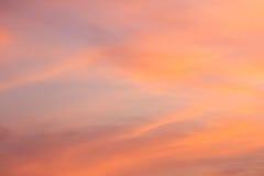 Πορτοκαλί φως βραδιού ηλιοβασιλέματος το χειμώνα Στοκ φωτογραφία με δικαίωμα ελεύθερης χρήσης