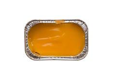 Πορτοκαλί φύλλο αλουμινίου αλουμινίου κέικ στοκ εικόνες