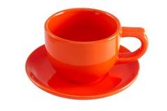 Πορτοκαλί φλυτζάνι Στοκ Εικόνες
