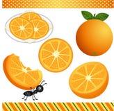 Πορτοκαλί ψηφιακό Clipart Στοκ φωτογραφίες με δικαίωμα ελεύθερης χρήσης
