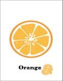 Πορτοκαλί όμορφο μισό γλυκό φρούτων διανυσματική απεικόνιση