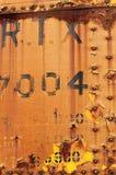 Πορτοκαλί Boxcar Στοκ Φωτογραφίες