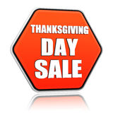 Πορτοκαλί hexagon έμβλημα πώλησης ημέρας των ευχαριστιών Στοκ φωτογραφίες με δικαίωμα ελεύθερης χρήσης