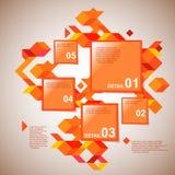 Πορτοκαλί infographics Στοκ φωτογραφία με δικαίωμα ελεύθερης χρήσης