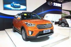 Πορτοκαλιά έκδοση του Πεκίνου Hyundai ix25 Στοκ εικόνες με δικαίωμα ελεύθερης χρήσης