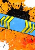 Πορτοκαλιά ανασκόπηση Στοκ Εικόνα