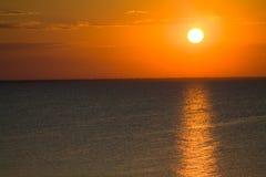 πορτοκαλιά ανατολή Στοκ Εικόνα