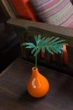 Πορτοκαλιά βάζα Στοκ Εικόνα