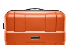 Πορτοκαλιά βαλίτσα χρώματος ανώτερο μέρος της λαβής Στοκ φωτογραφία με δικαίωμα ελεύθερης χρήσης
