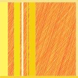 Πορτοκαλιά γραμμή σε ένα κίτρινο υπόβαθρο Στοκ Εικόνες