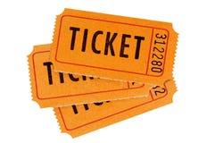Πορτοκαλιά εισιτήρια Στοκ Φωτογραφία
