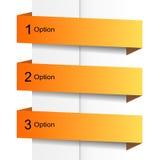 Πορτοκαλιά εμβλήματα επιλογής Στοκ Εικόνα