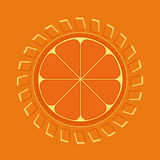 Πορτοκαλιά ενέργεια Στοκ Φωτογραφίες