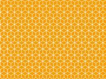 Πορτοκαλιά εξαγωνικά σχέδια Στοκ εικόνες με δικαίωμα ελεύθερης χρήσης