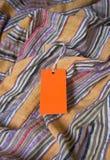 Πορτοκαλιά ετικέττα με το κενό διάστημα για το γράψιμό σας Στοκ Φωτογραφία