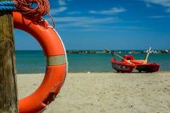 Πορτοκαλιά διάσωση lifebuoy Στοκ Εικόνες