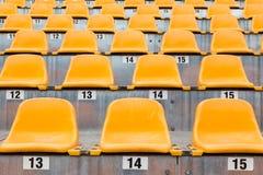 πορτοκαλιά καθίσματα Στοκ εικόνες με δικαίωμα ελεύθερης χρήσης