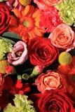 Πορτοκαλιά και κόκκινα γαμήλια λουλούδια Στοκ φωτογραφία με δικαίωμα ελεύθερης χρήσης