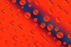 Πορτοκαλιά και μπλε σταγονίδια Στοκ Φωτογραφία
