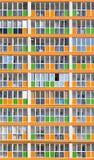 Πορτοκαλιά και πράσινα σύγχρονα διαμερίσματα κατοικίας Στοκ Εικόνες