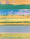 Πορτοκαλιά και πράσινη αφηρημένη ζωγραφική τέχνης Στοκ εικόνα με δικαίωμα ελεύθερης χρήσης
