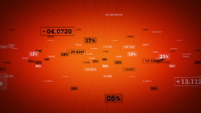 Πορτοκαλιά καταδίωξη ποσοστών και τιμών απεικόνιση αποθεμάτων