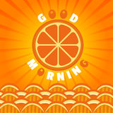 Πορτοκαλιά καλημέρα Στοκ Εικόνα
