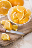 Πορτοκαλιά κομμάτια Στοκ Φωτογραφίες