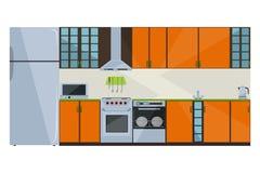 Πορτοκαλιά κουζίνα απεικόνιση αποθεμάτων