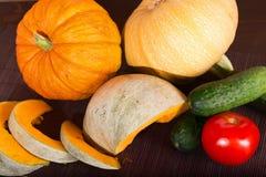 Πορτοκαλιά κολοκύθα και άλλα λαχανικά Στοκ Εικόνες