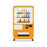 πορτοκαλιά μηχανή αυτόματης πώλησης, απομονωμένη διανυσματική απεικόνιση Στοκ Εικόνα